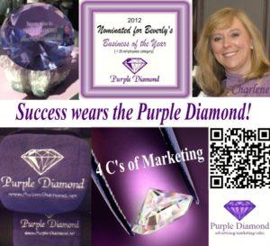 Purple Diamond Social Media Success